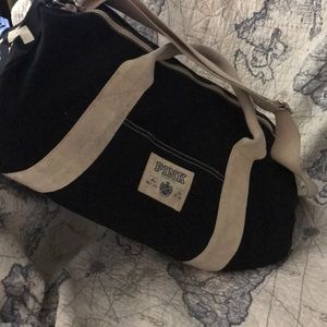 Victoria's Secret pink black and white duffel bag